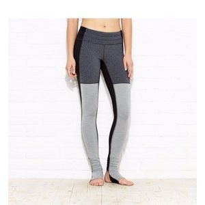 Lucy Grey and Black Stirrup Leggings